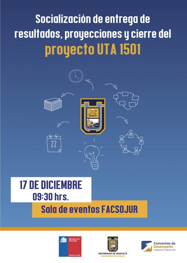 Foto Noticia Afiche socialización de entrega de resultados proyecto UTA 1501